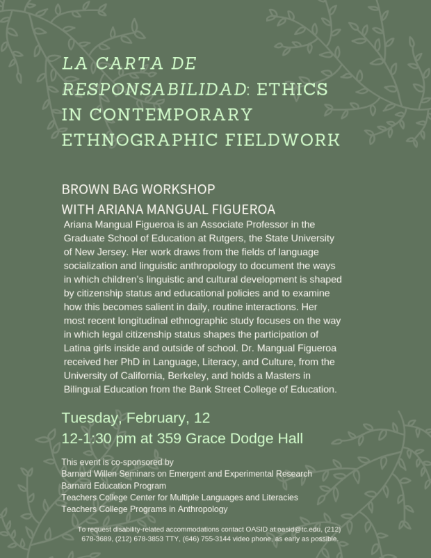 La carta de responsabilidad_ Ethics in comtemporary ethnographic fieldwork(1)